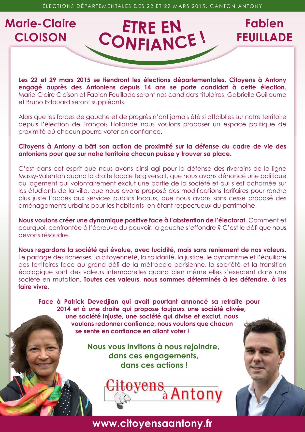 Tract de lancement de campagne