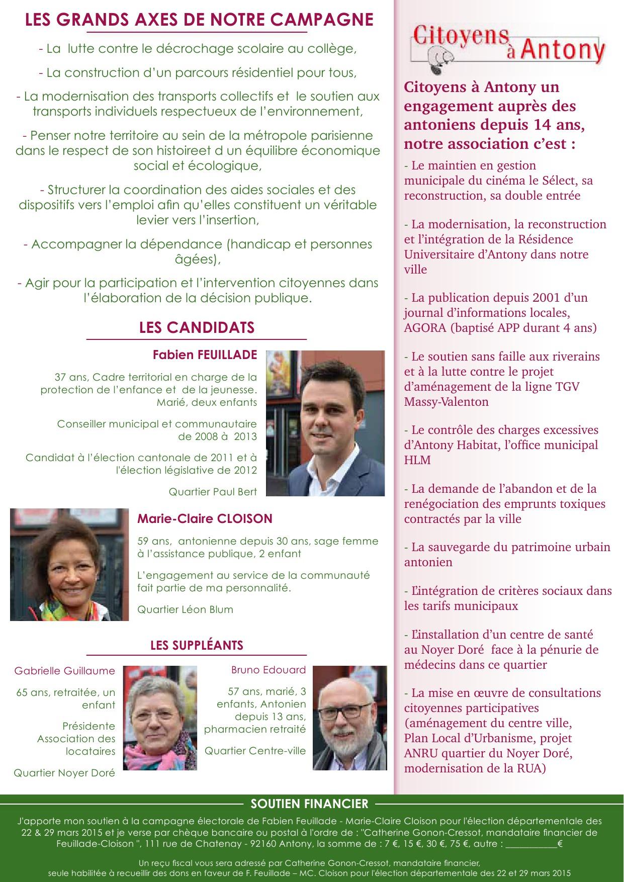Tract de lancement de la campagne