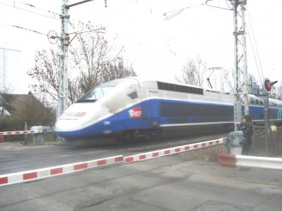 Un TGV de passage à Fontaine-Michalon